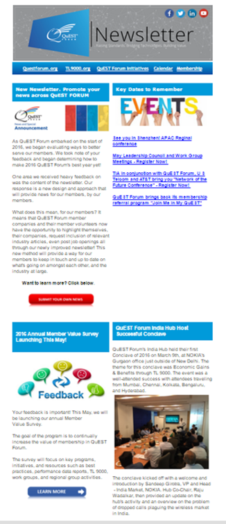 newsletter sample
